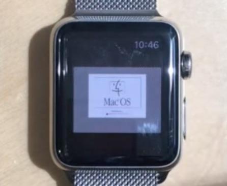 Apple Watch Running Mac OS 7.5.5