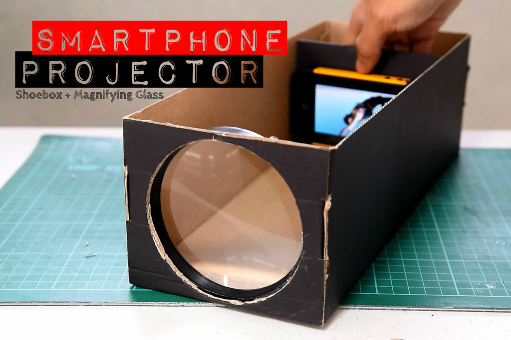 make your own smartphone projector with a shoebox and science liliputing. Black Bedroom Furniture Sets. Home Design Ideas