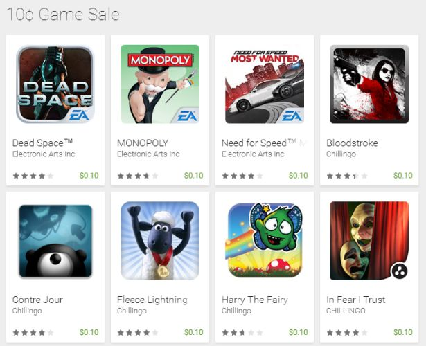 10 game sale