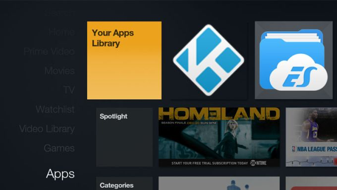 Amazon fire tv sideloaded apps now visible in the main menu liliputing