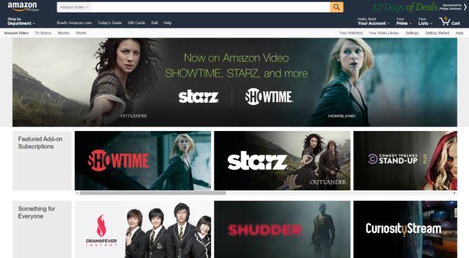 Cancel Showtime subscription on Amazon