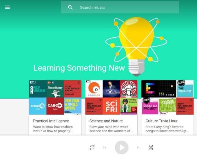 Google Play Music launches podcasts, recommends shows based