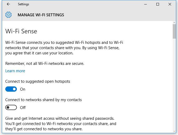wifi sense