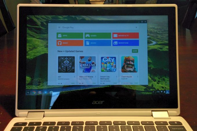 Android apps now run on the Acer Chromebook R11, Google