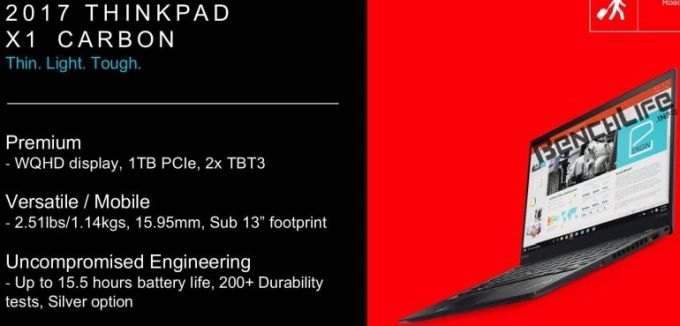 Lenovo thinkpad x1 carbon with kaby lake thunderbolt 3 leaked ahead of laptops have always been known for their sleek but professional design the new model is said to be 6 percent lighter and 8 percent smaller than freerunsca Gallery