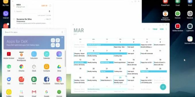 Samsung DeX lets you use a Galaxy S8 like a desktop PC - Liliputing