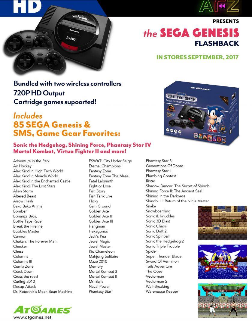 AtGames launches Atari, Sega Genesis, and Sega portable retro game