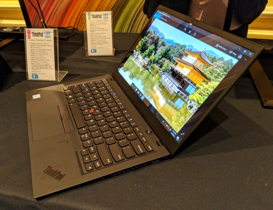 Hands-on with Lenovo's 2018 ThinkPad X1 Carbon, X1 Yoga, and