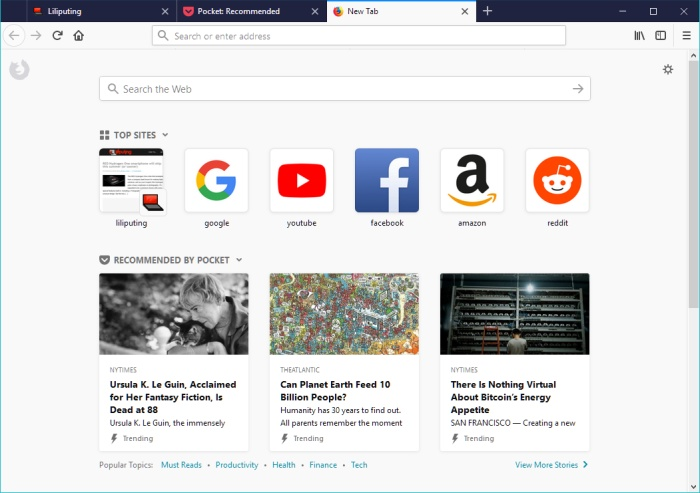 how to see recently browsed sites and pages in firefox