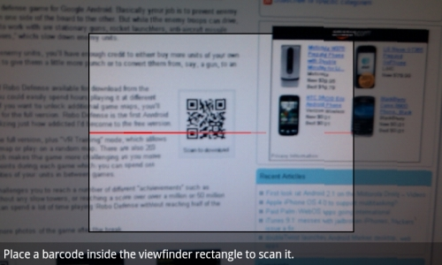 How to scan QR codes to download Android apps - Liliputing