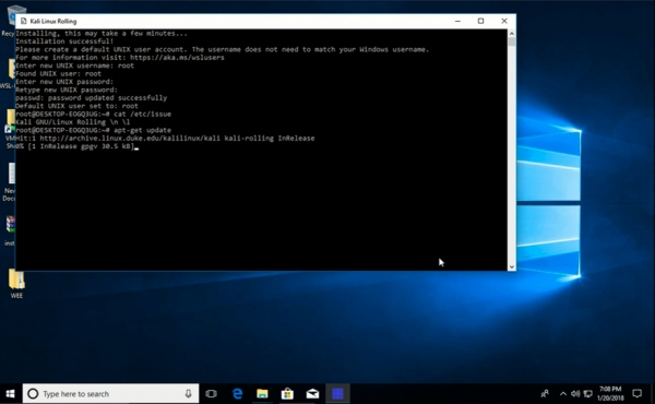 Kali Linux hits the Microsoft Store (for Windows Subsystem