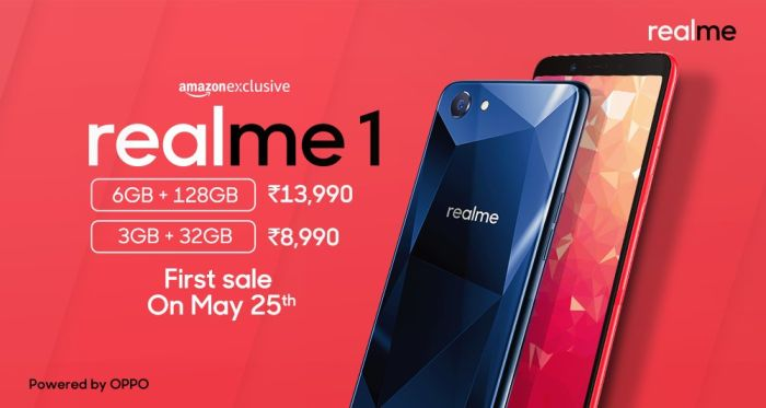 Oppos Realme1 Smartphone Hits India This Month For 130