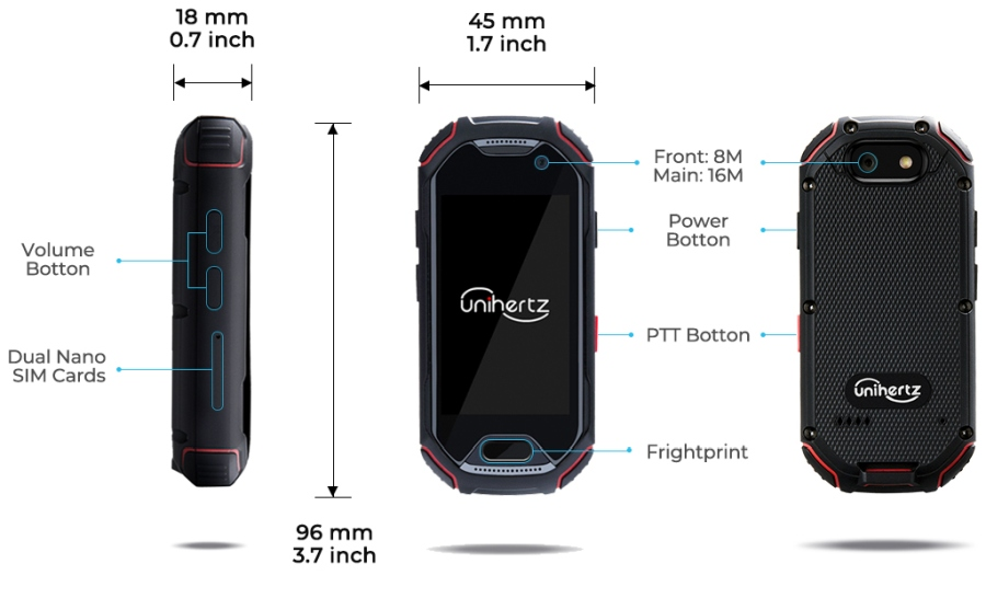 Unihertz Atom is a tiny, rugged 4G smartphone with a 2 45