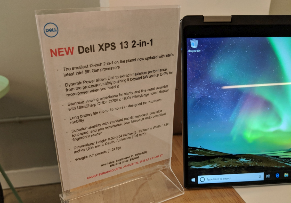 Dell XPS 13 2-in-1 gets an Amber Lake upgrade (and the XPS 13