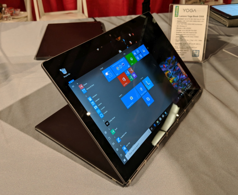 Hands-on: Lenovo Yoga Book C930 dual-screen laptop (LCD and E Ink