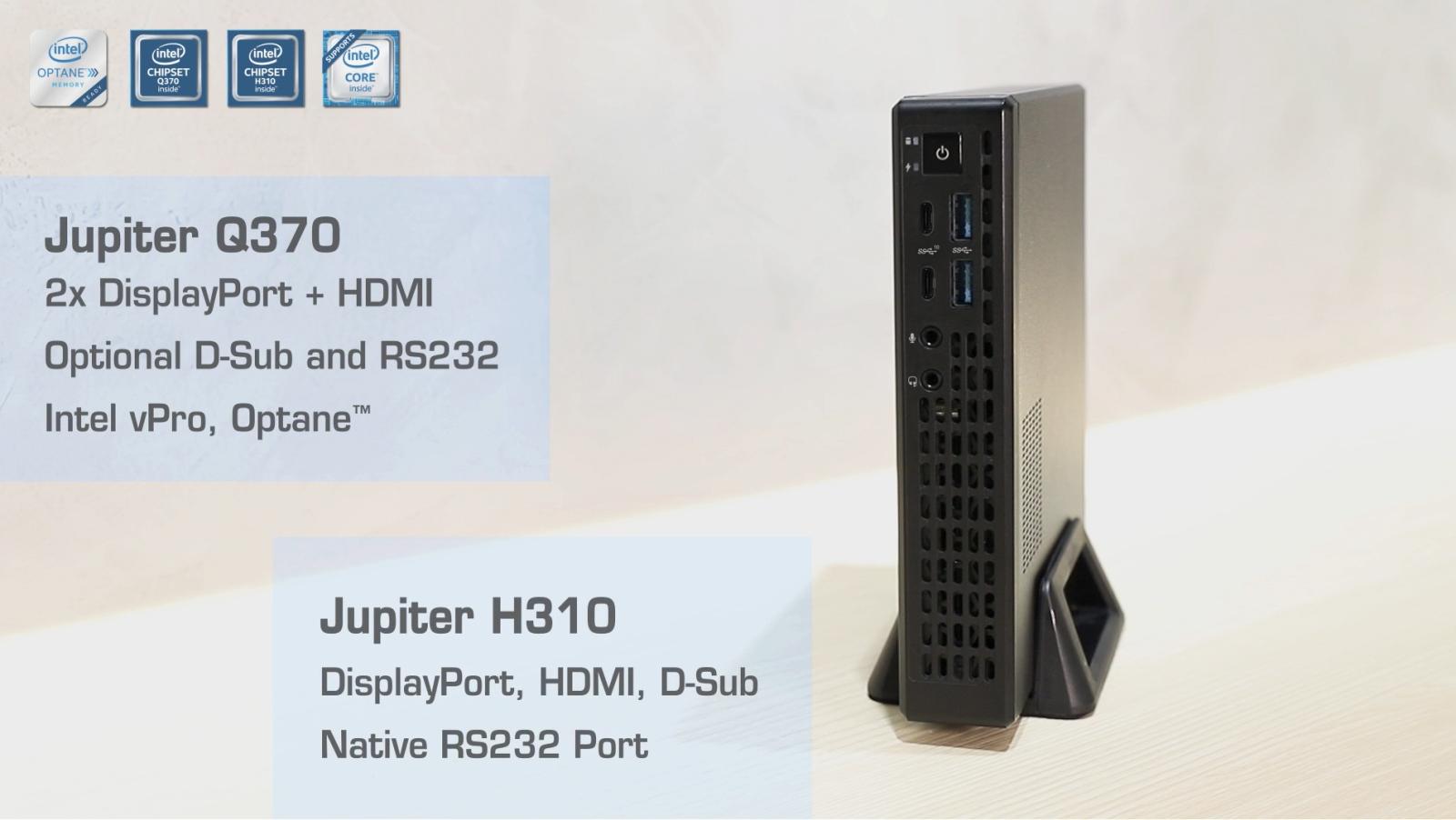 ASRock Jupiter: Tiny desktop PCs with 65W Intel Coffee Lake chips