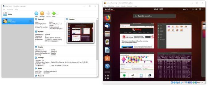 VirtualBox 6.0 with Ubuntu running as a guest OS