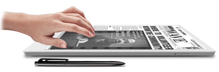 E-Pad is a 10 3 inch E Ink Android tablet with a Wacom Pen
