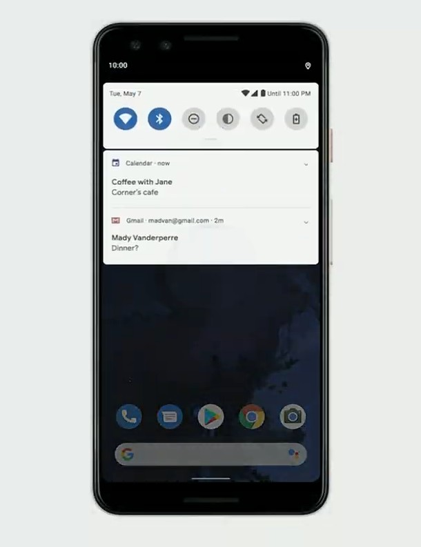 Android 10 includes dark theme, gesture navigation, and more