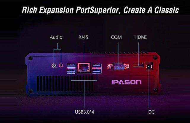 Ipason F-Migrate mini PC packs an AMD Ryzen R3 2200GE processor