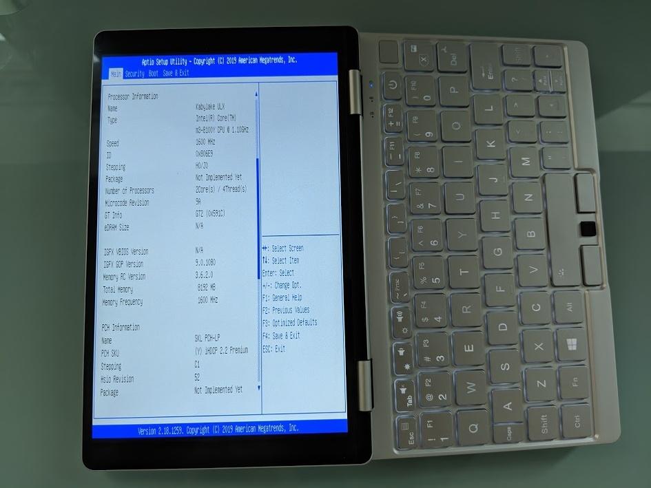Running Ubuntu on the One Mix Yoga 3 mini laptop (Update