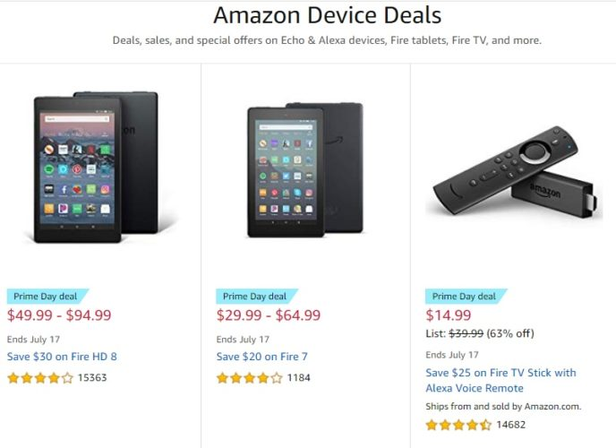 Amazon Prime Day Device Deals