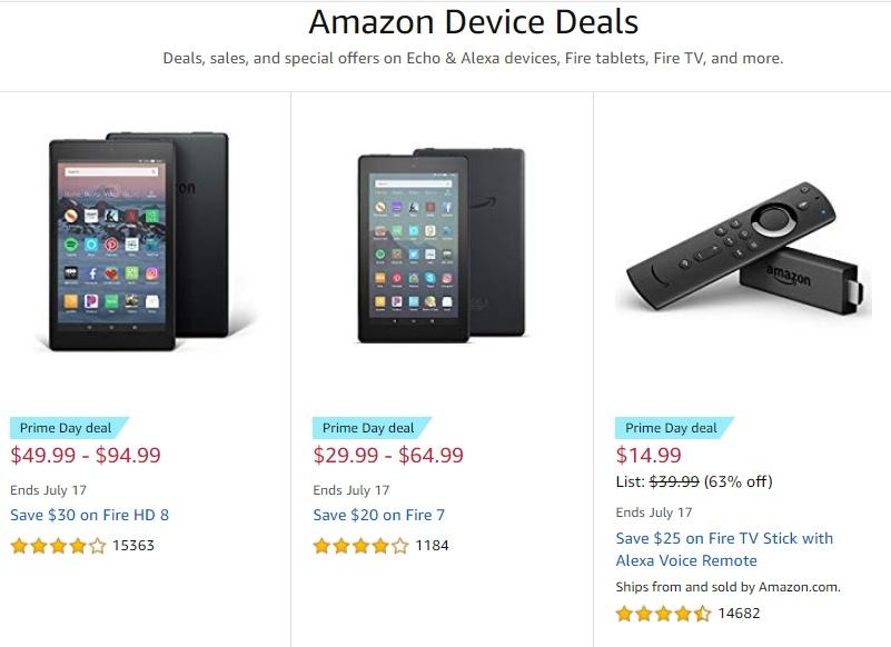 Amazon Prime Day Device Deals