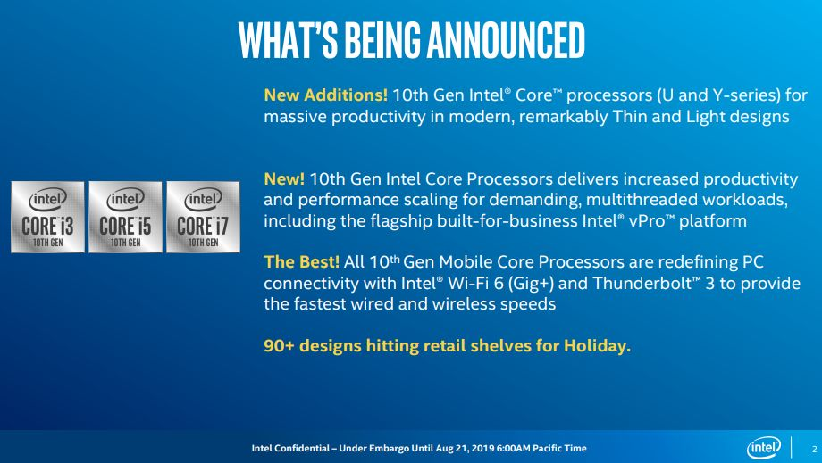 Intel launches 10th-gen