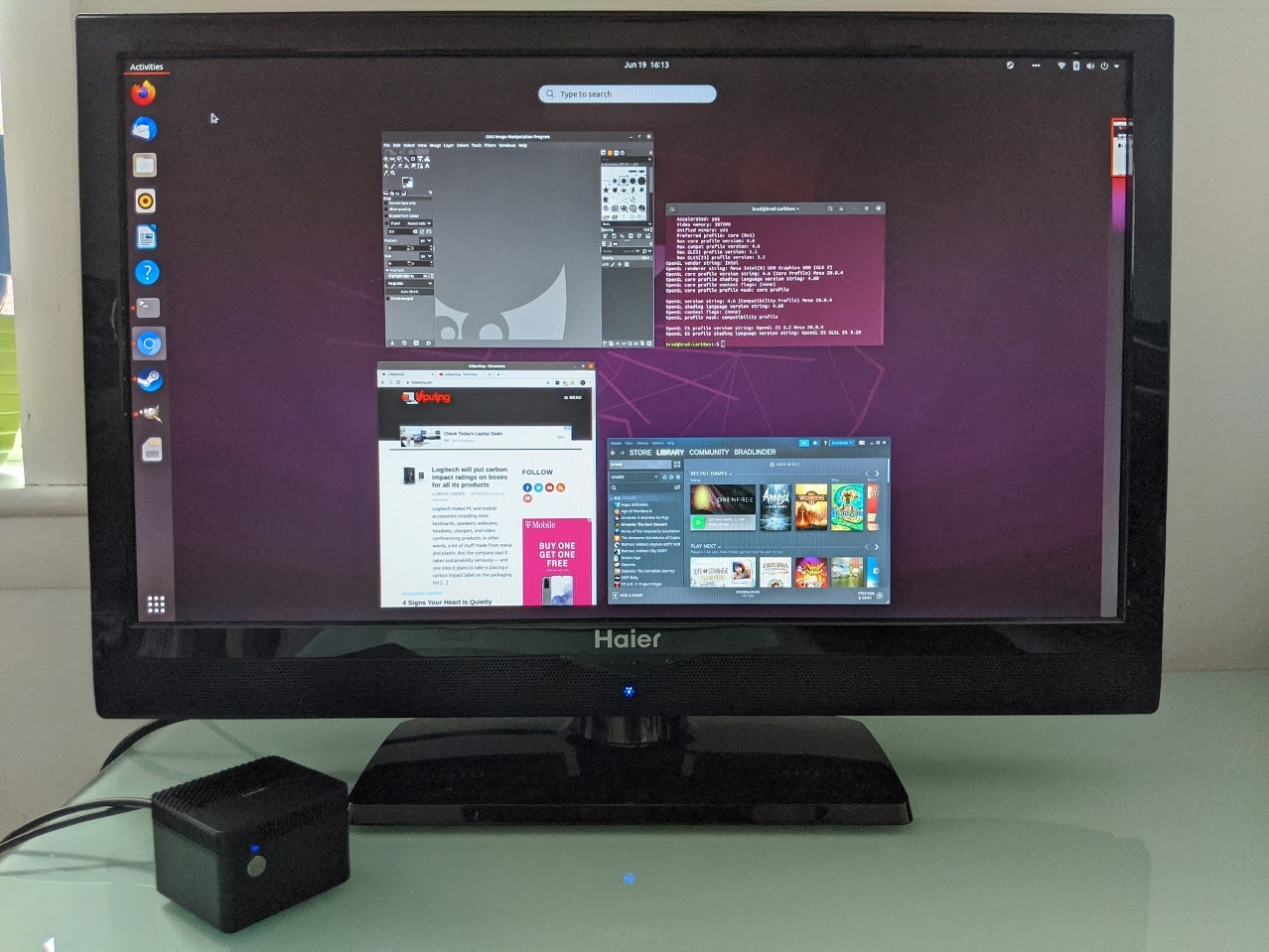 Chuwi LarkBox with Ubuntu