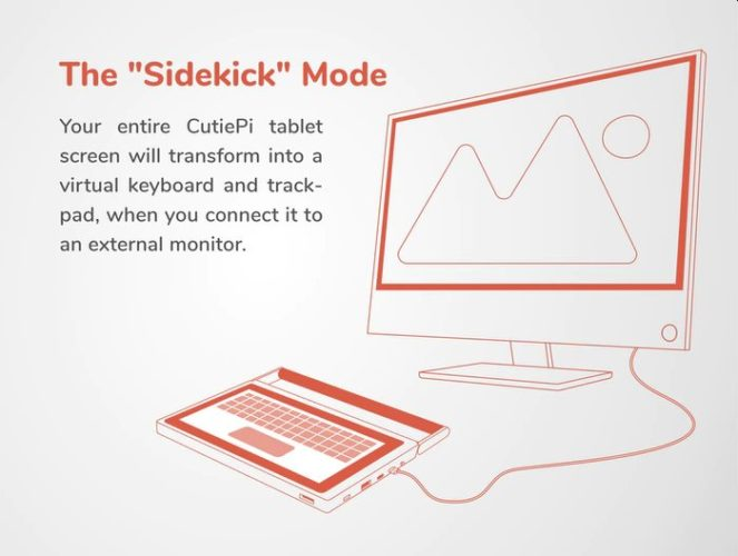CutiePi Sidekick mode