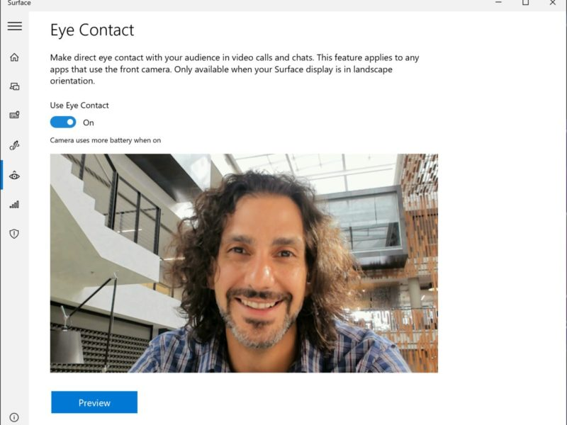 Windows 10 Eye Contact
