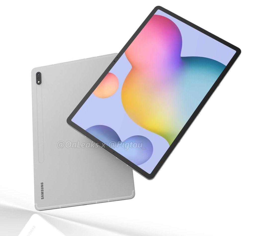 Samsung Galaxy Tab S7+ (leaked rendering)