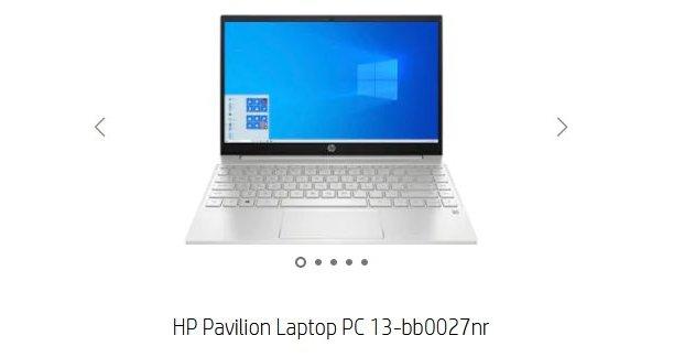 HP Pavilion 13 with Intel Tiger Lake