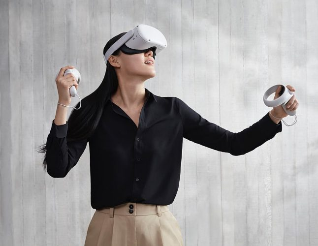 The Oculus Quest 2 unveiled during Facebook Connect