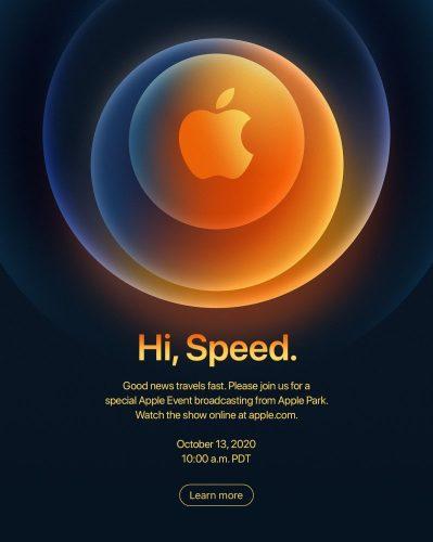 Apple Hi, Speed event invitation