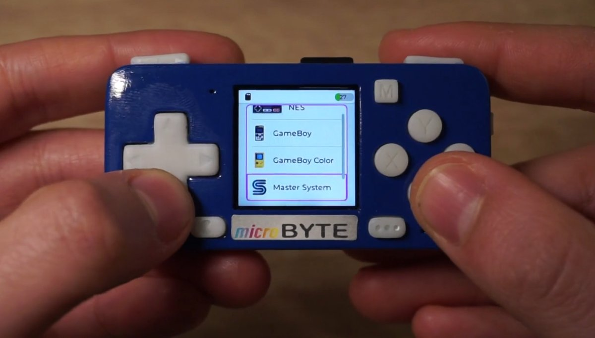 microByte is an open hardware tiny handheld game console for $45 and up during crowdfunding