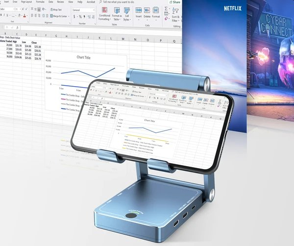 Beelink Expand X is a dock that lets you use mobile devices as desktop PCs