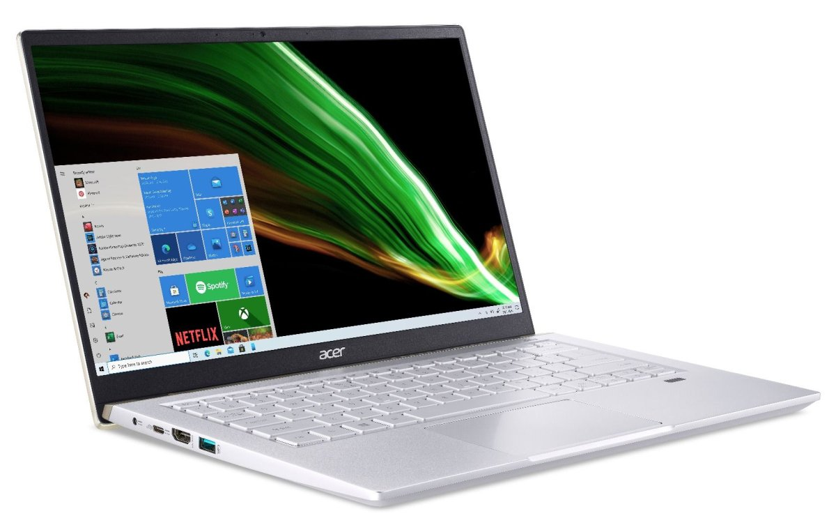 Acer Swift X laptop with Ryzen 5000U and NVIDIA graphics coming soon