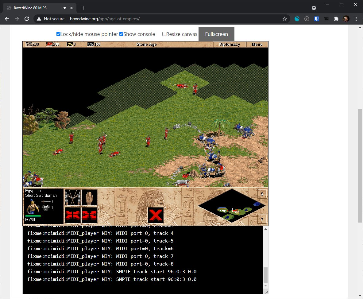 Boxedwine is an emulator that can run Windows apps on the web (or Linux, Mac, or… Windows)